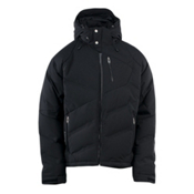 Spyder Rocket Down Mens Insulated Ski Jacket, Black-Black-Black, medium