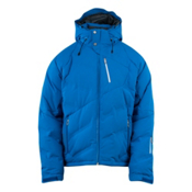 Spyder Rocket Down Mens Insulated Ski Jacket, Collegiate Blue-White, medium