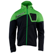 Spyder Strato Fleece Hoodie, Black-Classic Green, medium