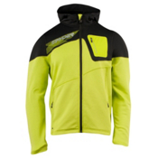 Spyder Strato Fleece Hoodie, Sharp Lime-Peat, medium