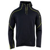 Spyder Boosted Hoody Hoodie, Black-Sharp Lime, medium
