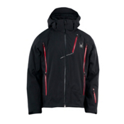Spyder Vyper Mens Insulated Ski Jacket, Black-Black-Red, medium