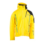 Spyder Vyper Mens Insulated Ski Jacket, Sun-Black-Collegiate, medium