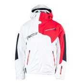 Spyder Titan Mens Insulated Ski Jacket, White-Red-Black, medium