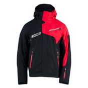 Spyder Titan Mens Insulated Ski Jacket, Black-Red-Black, medium