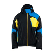 Spyder Cosmos Mens Insulated Ski Jacket, Black-Collegiate-Sun, medium