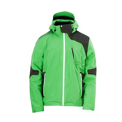 Spyder Cosmos Mens Insulated Ski Jacket, Classic Green-Peat-White, medium