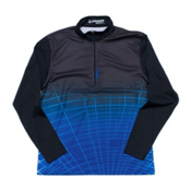 Spyder Webcentric DRY W.E.B. T-Neck Mens Mid Layer, Black-Just Blue, medium