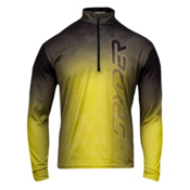 Spyder Gradient Web Dry W.E.B. T-Neck Mens Mid Layer, Sharp Lime-Black, medium