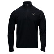 Spyder Speed 1/4 Zip Polartec Fleece T-Neck Mens Mid Layer, Black, medium
