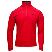 Spyder Speed 1/4 Zip Polartec Fleece T-Neck Mens Mid Layer, Red, medium