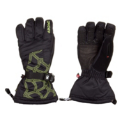 Spyder Overweb Gore-Tex Gloves, Black-Sharp Lime, medium