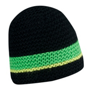 Spyder Bug Band Hand Knit Hat, Black-Classic Green-Sharp Lime, medium