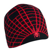 Spyder Web Ski Hat, Black-Red, medium