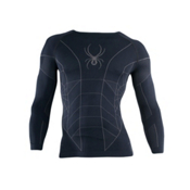 Spyder Skeleton X-Static LS Mens Long Underwear Top, Black-Castlerock, medium