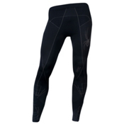 Spyder Slalom X-Static Mens Long Underwear Pants, Black-Castlerock, medium