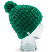 Coal Waffle Hat, Kelly Green, medium