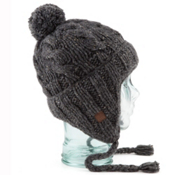 Coal Isles Flap Hat, Charcoal, medium