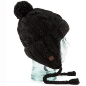 Coal Isles Flap Hat, Black, medium