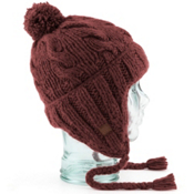 Coal Isles Flap Hat, Burgendy, medium