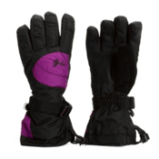 Gordini Gore-Tex II Girls Gloves, Black-Deep Purple, medium