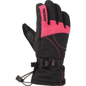Gordini Aquabloc Down Gauntlet II Womens Gloves, Black-Honeysuckle, medium