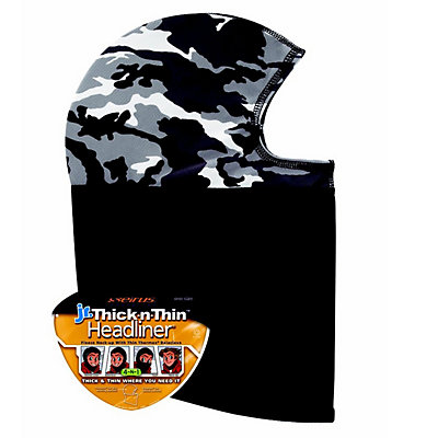 Seirus Thick N Thin Headliner Kids Balaclava, Snow Camo, viewer