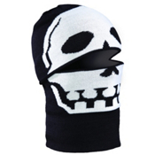 Seirus Headzo Kids Balaclava, Black-White-Skull, medium
