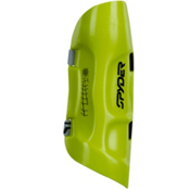 Spyder Plastic Shin Guard, Sharp Lime, medium