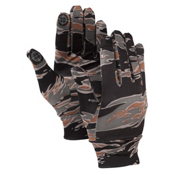 Burton Touchscreen Glove Liners, Tiger Camo, medium