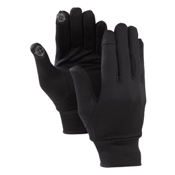 Burton Touchscreen Glove Liners, True Black, medium