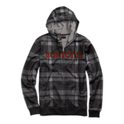 Burton Bonded Hoodie, True Black Riverside Plaid, medium