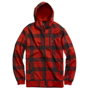 Burton Softshell Hoodie, Marauder Buffalo Plaid, medium