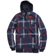 Burton Softshell Hoodie, Ballpoint Prospect Plaid, medium