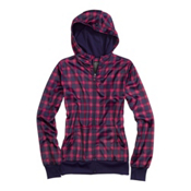 Burton Scoop Womens Hoodie, Hex Prepster Plaid, medium