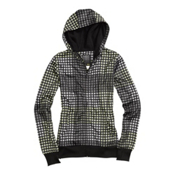 Burton Scoop Womens Hoodie, Black Cheeky Plaid, medium