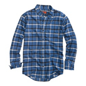 Burton Havoc Tech Flannel Flannel, Heron Blue Ride High Plaid, medium