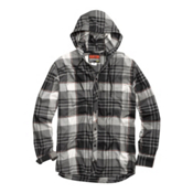 Burton Ruckus Hooded Flannel Flannel, True Black Vandyke Plaid, medium