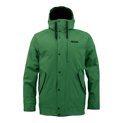 Burton TWC Throttle Mens Insulated Snowboard Jacket, Treefrog, medium