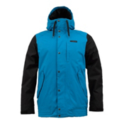 Burton TWC Throttle Mens Insulated Snowboard Jacket, Meltwater-True Black, medium
