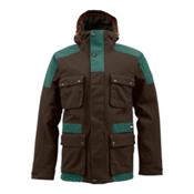 Burton Highland 2L Gore-Tex Mens Insulated Snowboard Jacket, Grizzly-Pine Crest, medium
