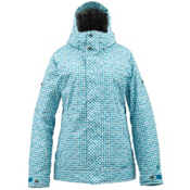 Burton TWC Fulltime Flirt Womens Insulated Snowboard Jacket, Graph Distressed Gingham, medium