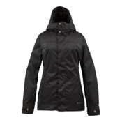 Burton TWC Fulltime Flirt Womens Insulated Snowboard Jacket, True Black, medium
