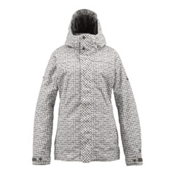 Burton TWC Fulltime Flirt Womens Insulated Snowboard Jacket, Bright White Distressed Gingham, medium