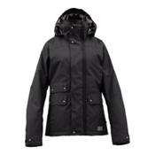 Burton Delirium Womens Insulated Snowboard Jacket, True Black, medium