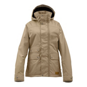 Burton Delirium Womens Insulated Snowboard Jacket, Cork, medium