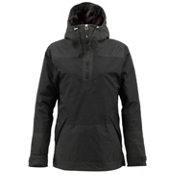 Burton Cora Pullover Womens Shell Snowboard Jacket, True Black, medium
