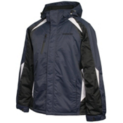 Karbon Pluto Mens Insulated Ski Jacket, Navy-Black-Arctic White, medium