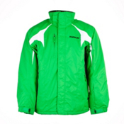Karbon Jupiter Mens Insulated Ski Jacket, Green-Black-Arctic White, medium