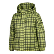 Karbon Seth Boys Ski Jacket, Green-Black Print, medium